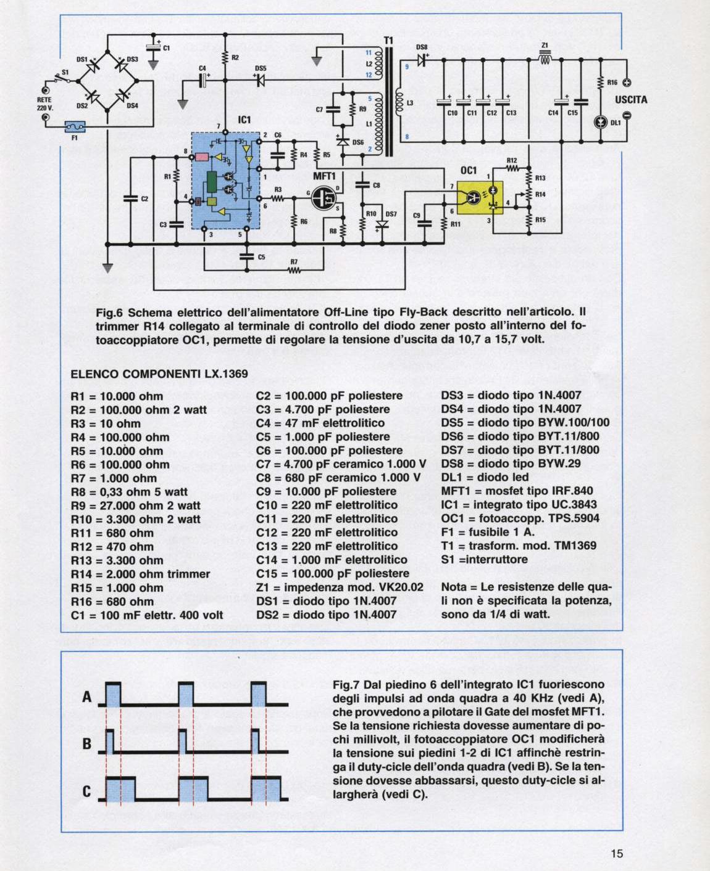 Schemi Elettrici Con Contattori : Alimentatore switching off line