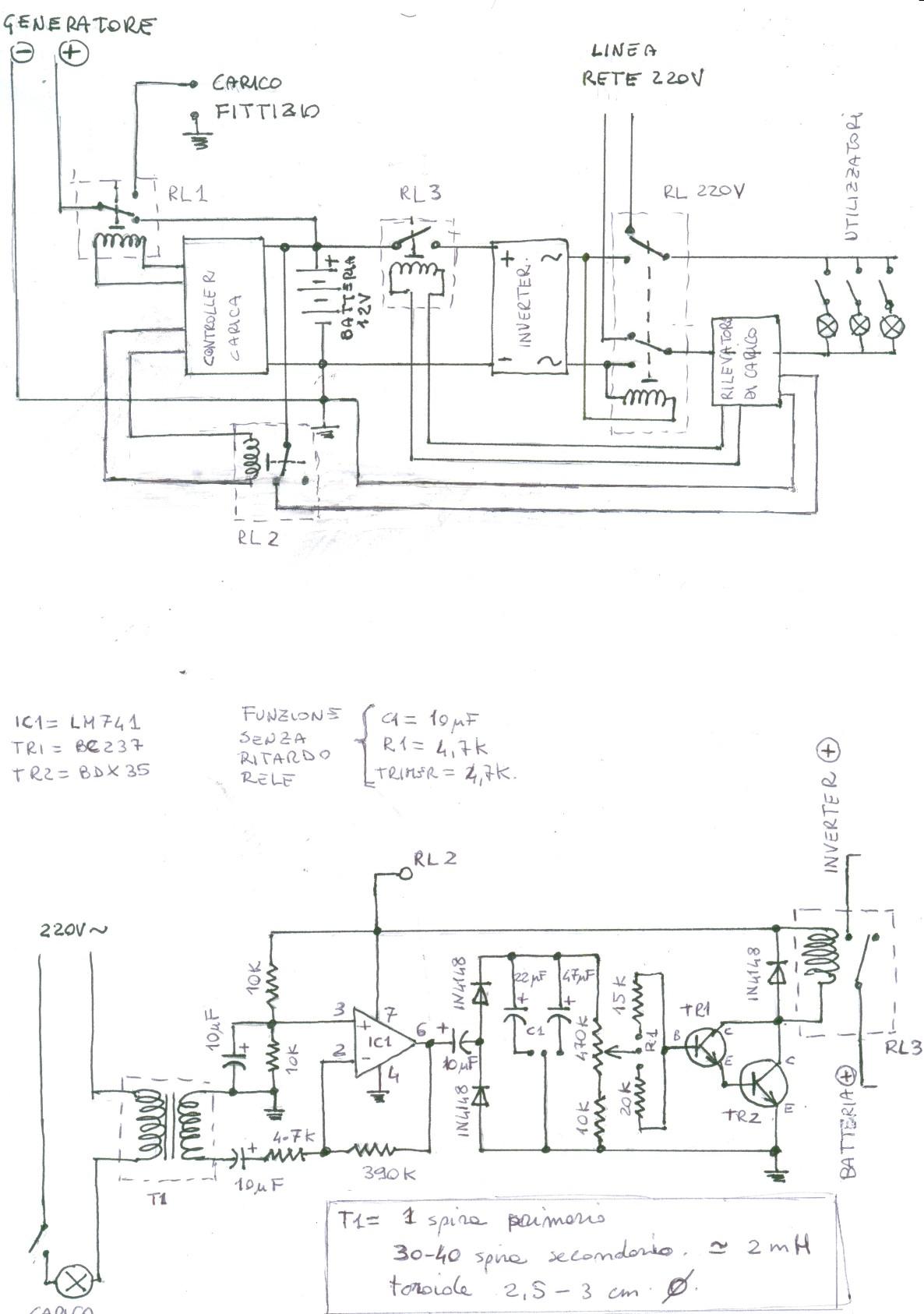 Schema Elettrico Relè Commutatore : Rele deviazione 220v