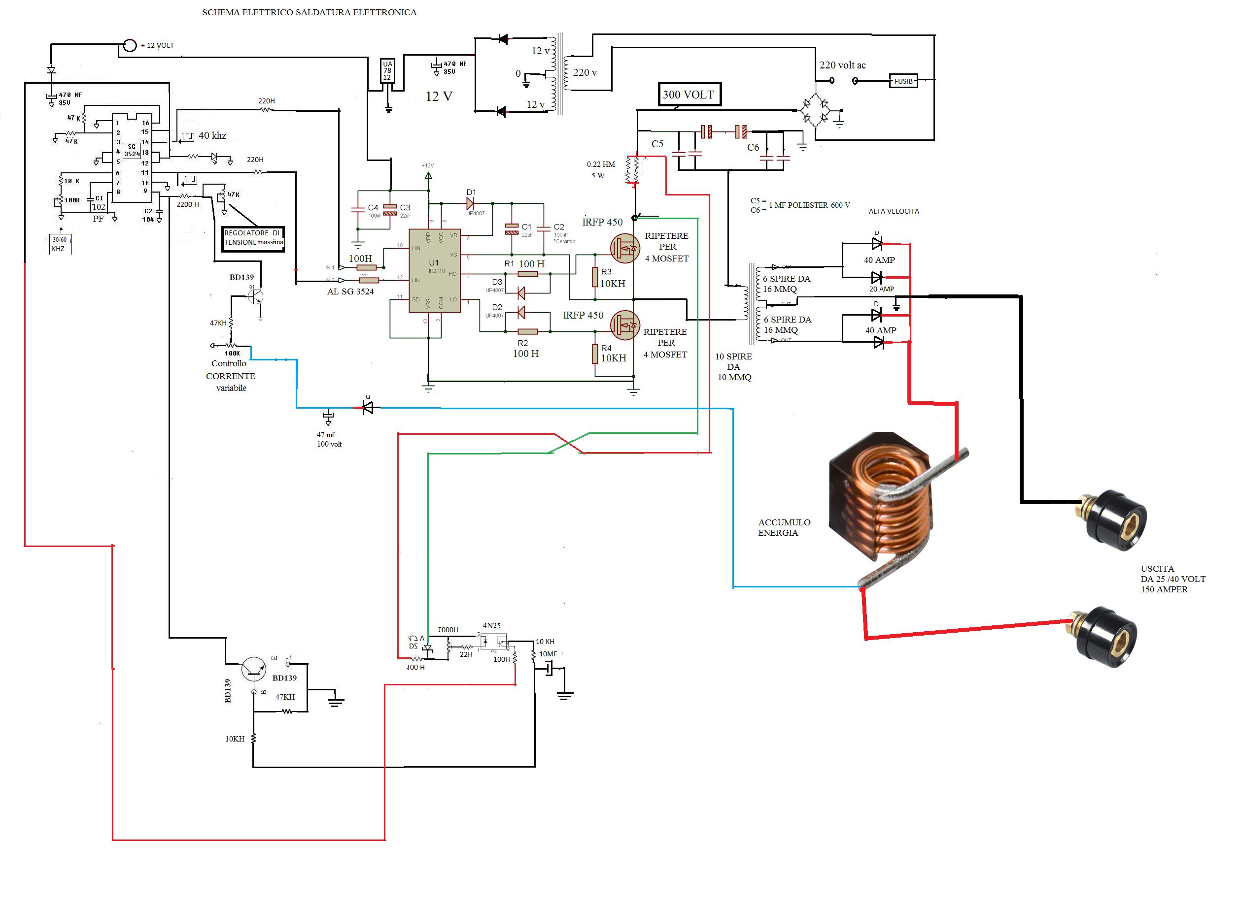 Schema Elettrico Inverter : Saldatrice inverter schema elettrico