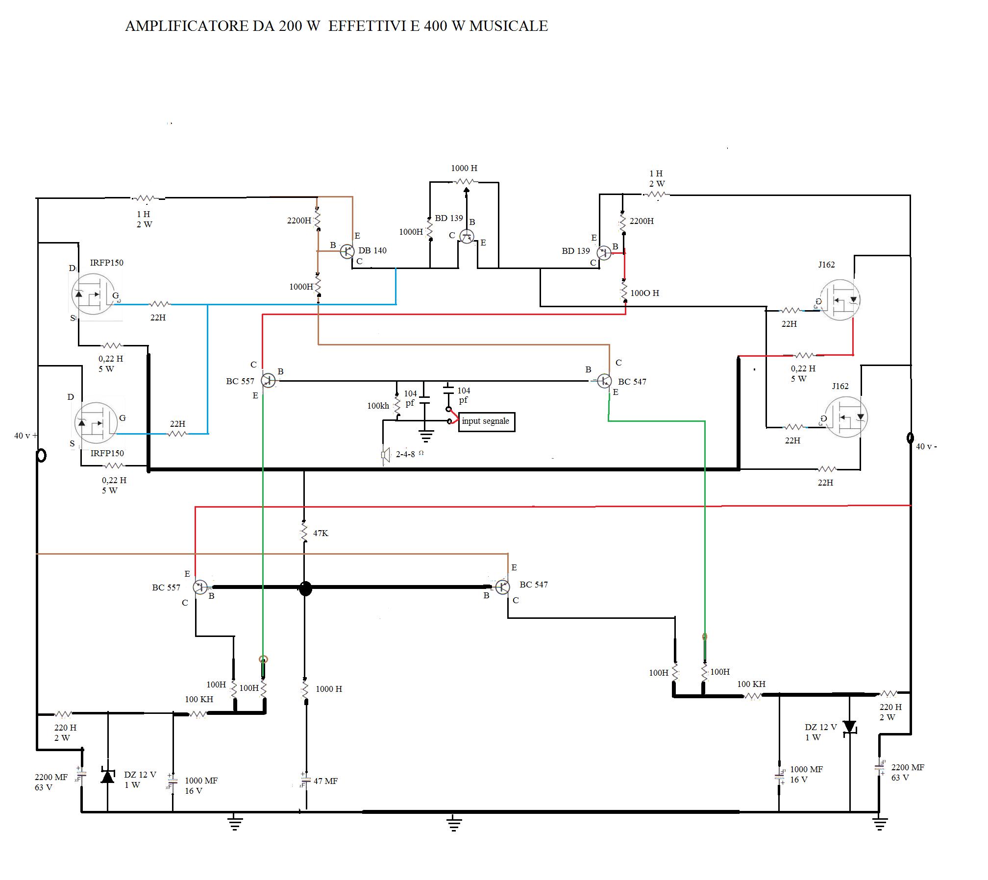 Schema Elettrico Nrg Power : Energia alternativa laboratory amplificatore a mosfet da